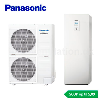 Panasonic Aquarea All in one 9 kW H-Generation T-Cap 1-faset luft/vand varmepumpe