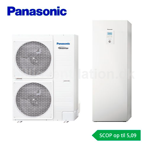 Panasonic Aquarea All in one T-Cap 9 kW H-Generation T-Cap luft/vand varmepumpe