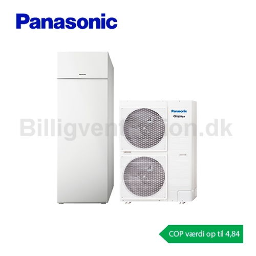Panasonic Aquarea All in one T-CAP 16 kW luft/vand varmepumpe
